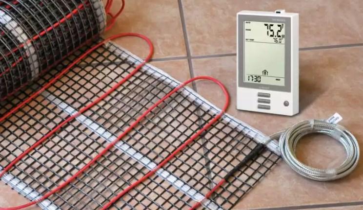 Установка электрического теплого пола и оборудования