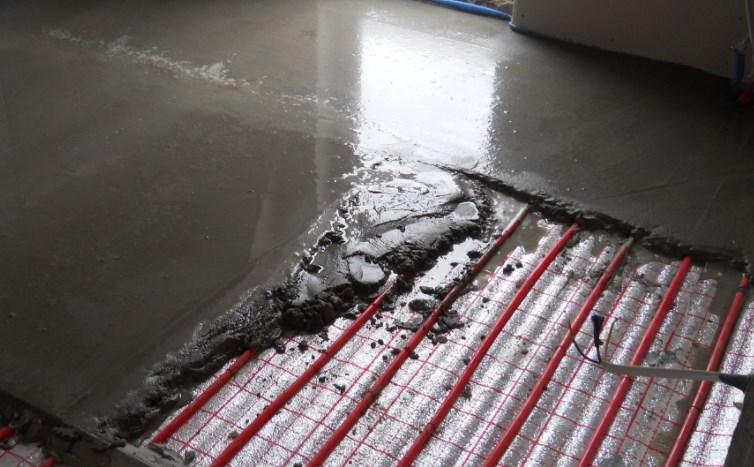 водяной пол под цемент