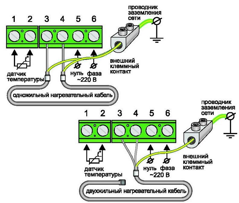 схема-шпаргалка подключения
