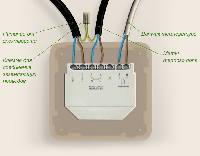 Подключение термостата