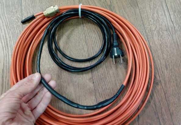 установка греющего кабеля