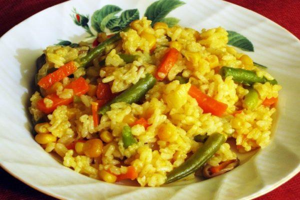Картинки по запросу Рассыпчатый овощной рис
