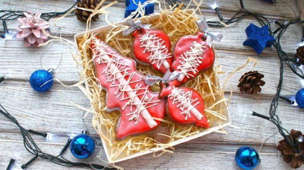 Картинки по запросу Коробка с печеньем новый год