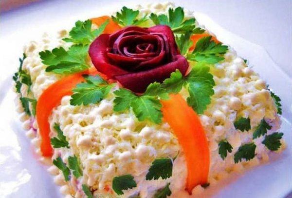 Картинки по запросу Новогодних салатов Рыбка