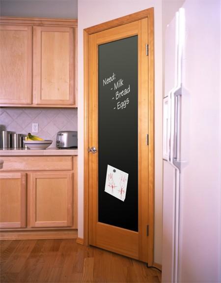 content door chalkboard